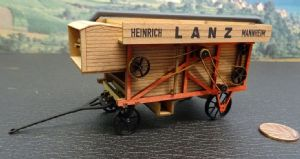 60100 Lanz Threshing machine 1:45 scale wooden model